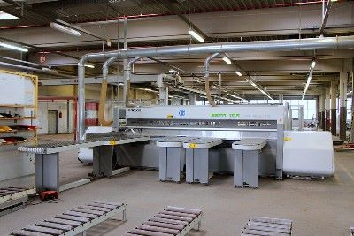 Single-sided beam saw with table BIESSE SELCO EBTR 108 TP